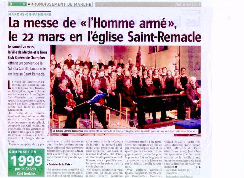 L'Avenir du Luxembourg, le 06 mars 2014