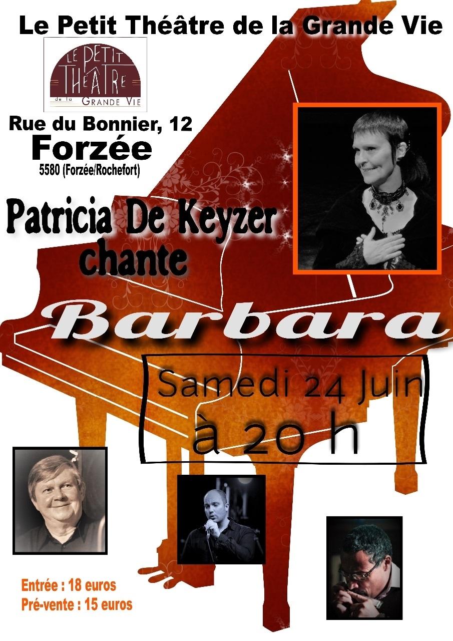 24 juin 2017 à Forzée, concert Barbara