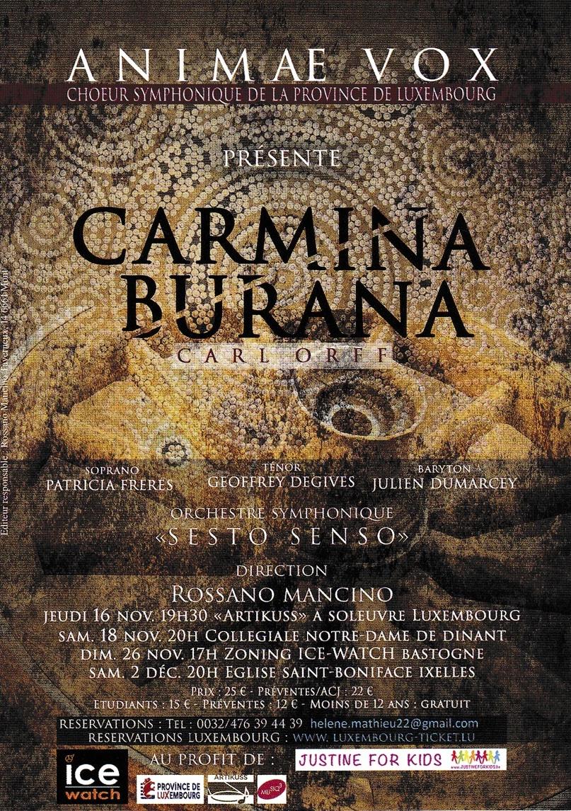 Carmina Burana (Carl Orff) par le CSPL à Bastogne et Ixelles