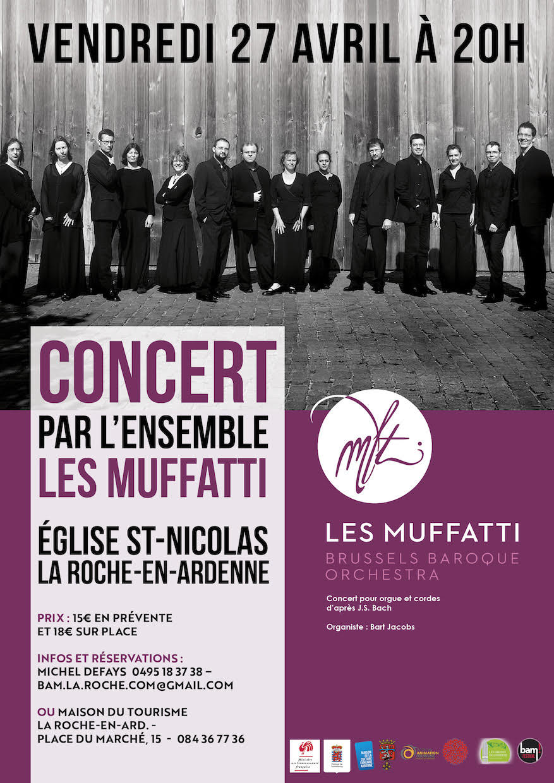 Concert de musique baroque, ensemble Muffatti à Marche-en-Famenne, le 27 avril 2018