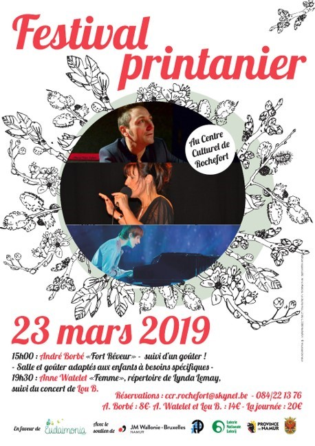Festival printanier, 23 mars au Centre Culturel de Rochefort