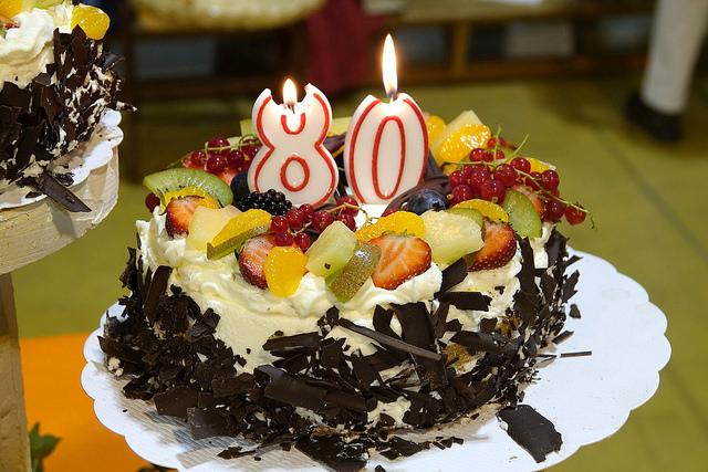 Gâteau des 80 ans de Jules GRANDMONT